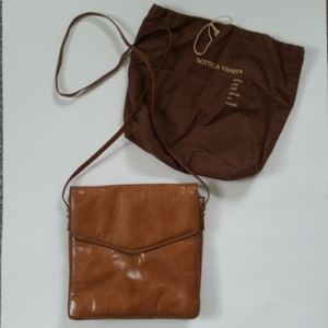 Bottega Veneta Brown Leather Flap Crossbody Purse